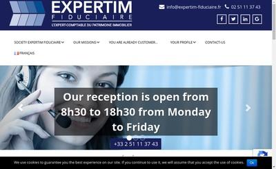 Site internet de Expertim Fiduciaire