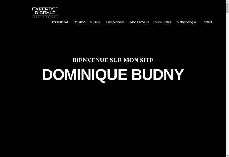 Capture d'écran du site de Expertise Digitale