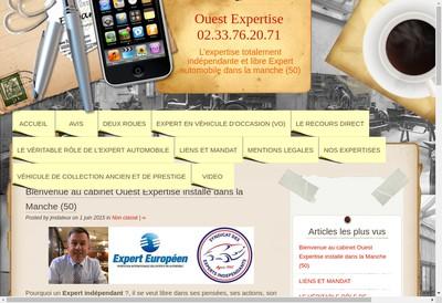 Site internet de Ouest Expertise