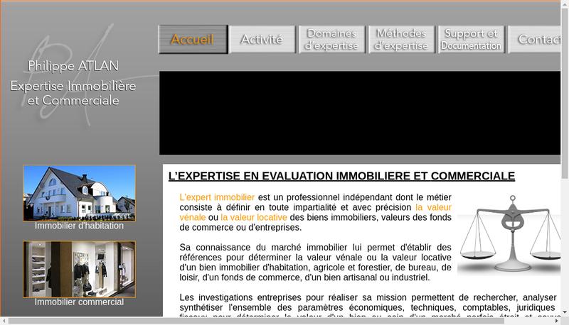 Capture d'écran du site de Philippe Atlan