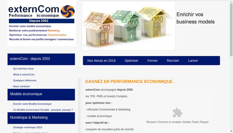 Capture d'écran du site de Externcom