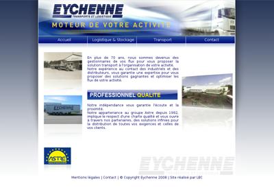 Capture d'écran du site de Eychenne Transports et Logistique