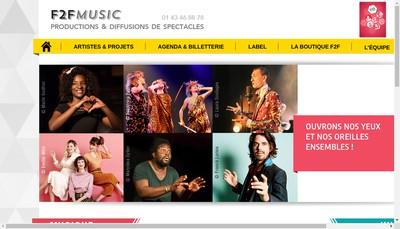 Site internet de F2F Music Artistes en Scene