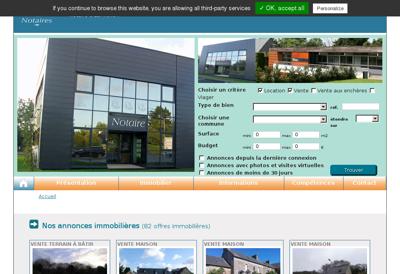 Capture d'écran du site de F2M