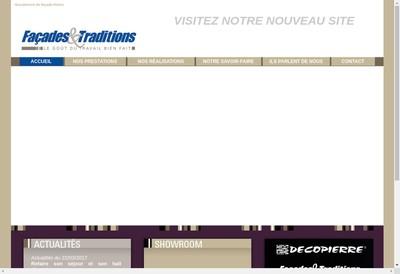 Site internet de Facades et Traditions