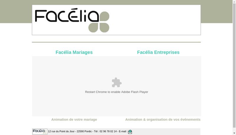 Capture d'écran du site de Facelia