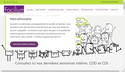 Site internet de Facilium