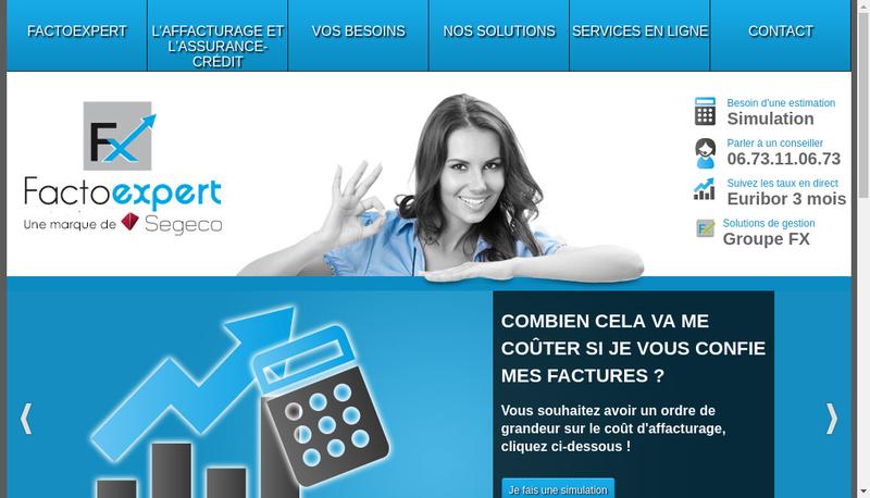 Capture d'écran du site de Factoexpert