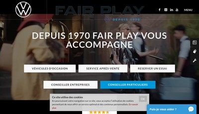 Site internet de Fair-Play Automobiles