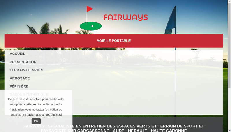 Capture d'écran du site de Fairways