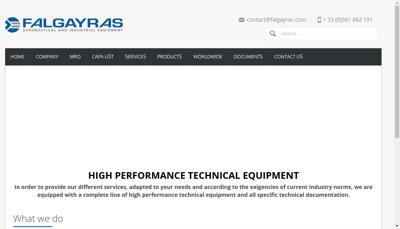 Capture d'écran du site de Falgayras SAS