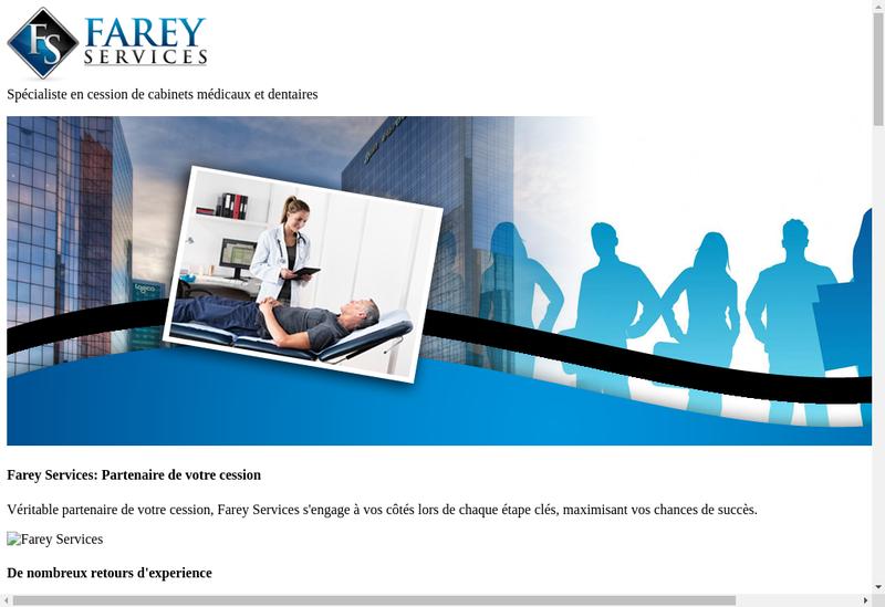 Capture d'écran du site de Farey Services