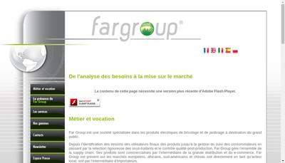 Site internet de Far Group Europe