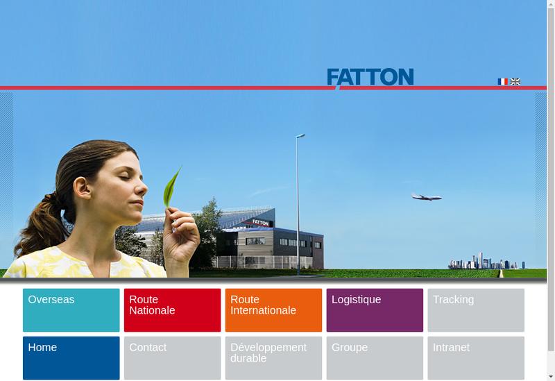 Capture d'écran du site de Fatton Logistique - Fatton Internation