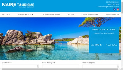Site internet de Faure Tourisme