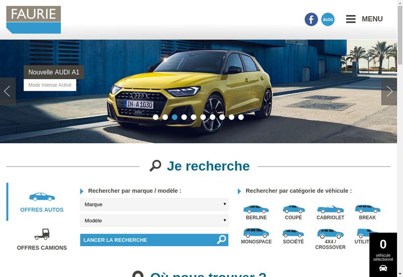 Capture d'écran du site de Faurie 24