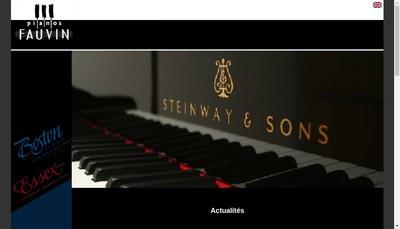 Site internet de Pianos Gerard Fauvin