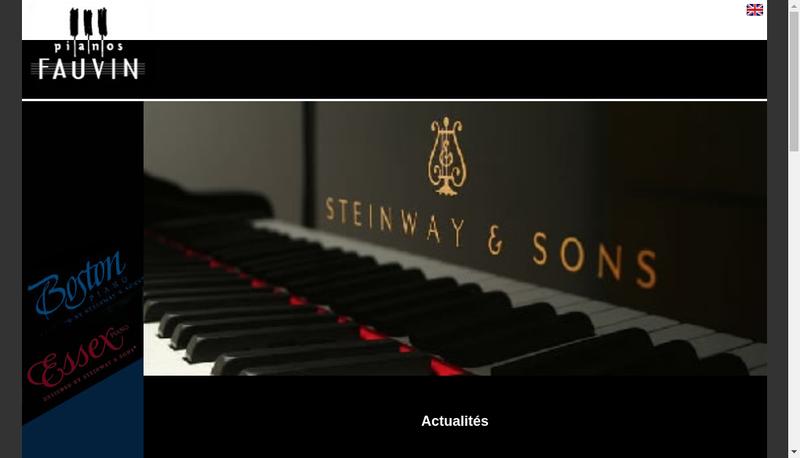 Capture d'écran du site de SARL Domaine Musical de Petignac