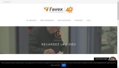Site internet de Favex