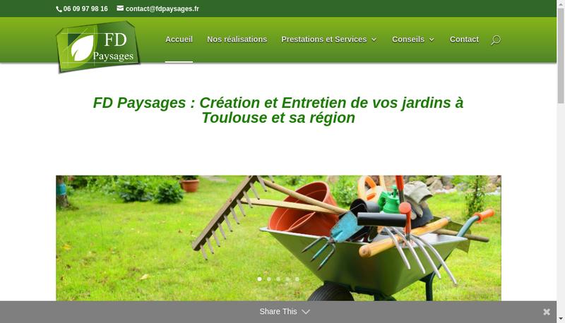 Capture d'écran du site de FD Paysages