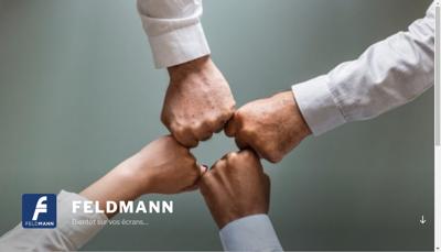 Capture d'écran du site de Feldmann SAS