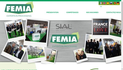 Site internet de Femia Industrie