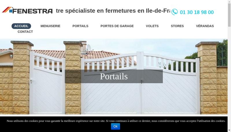 Capture d'écran du site de Fenestra
