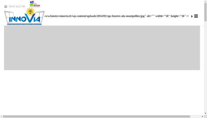 Capture d'écran du site de Innovia