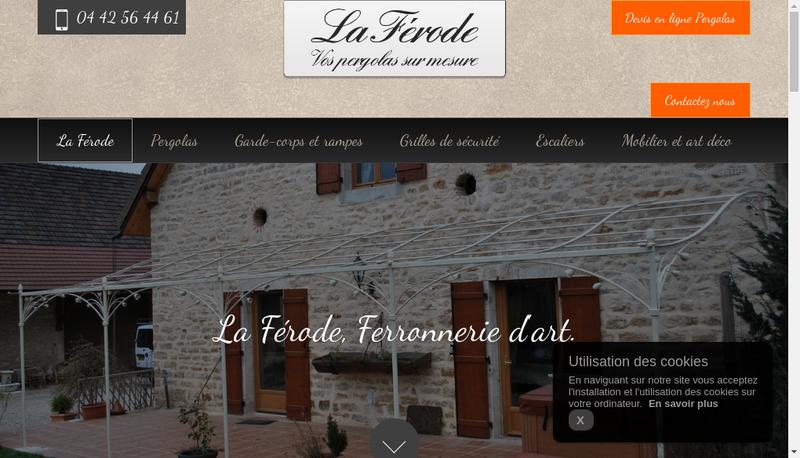 Capture d'écran du site de La Ferode