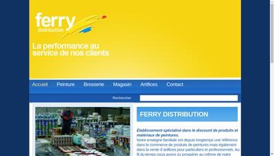 Site internet de Ferry Distribution