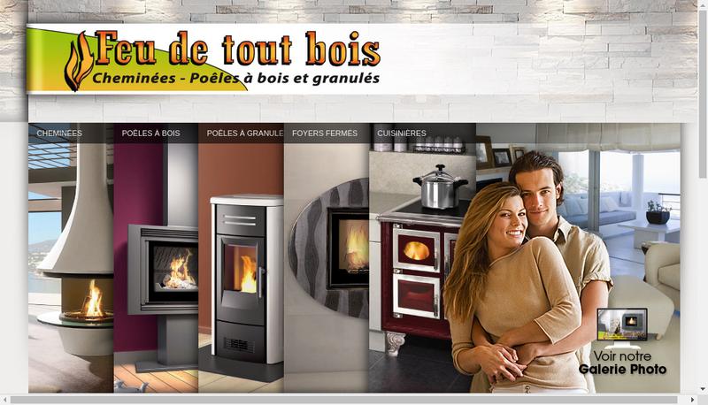 Capture d'écran du site de Feu de Tout Bois