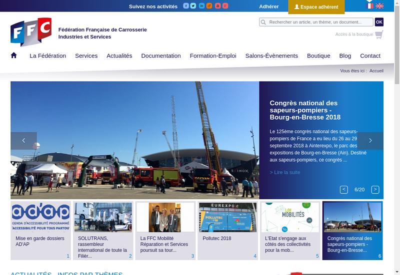 Capture d'écran du site de Carpromo