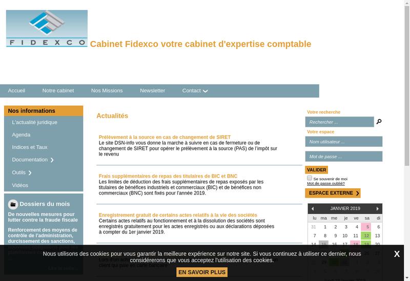 Capture d'écran du site de Fiduciaire Expertise Comptable Gestion