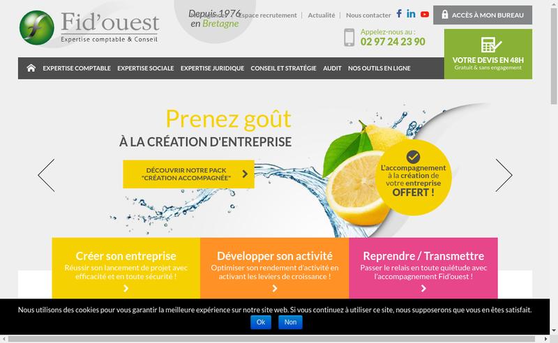 Capture d'écran du site de Fidouest la Roche-Bernard