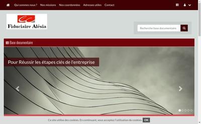 Site internet de Fiduciaire Alesia