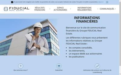 Site internet de Fiducial Real Estate