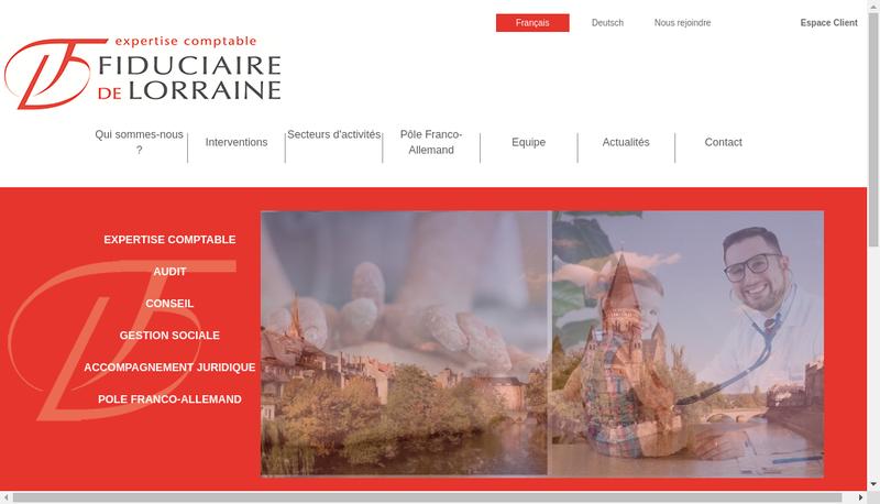 Capture d'écran du site de Societe Expert Comptable Fiduciar Lorraine