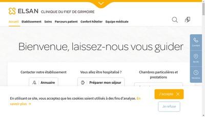 Site internet de Sae Clinique du Fief de Grimoire