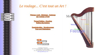 Site internet de Le Filetage de Precision