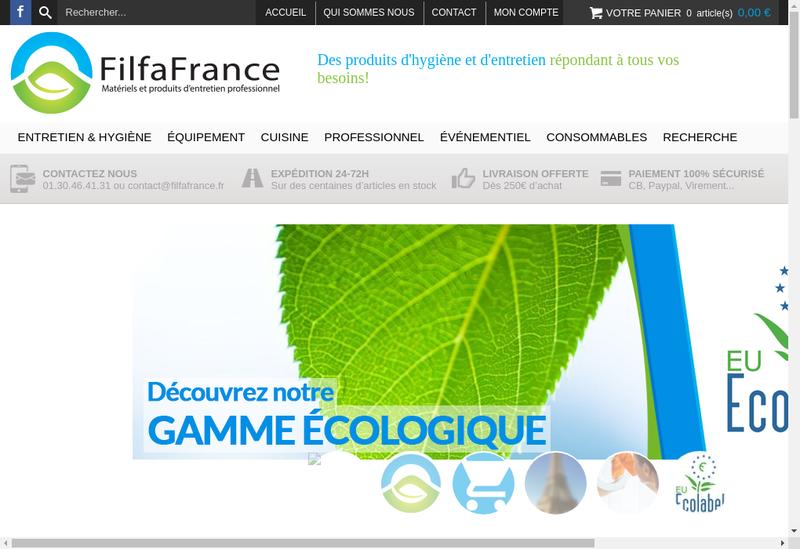 Capture d'écran du site de Filfa France
