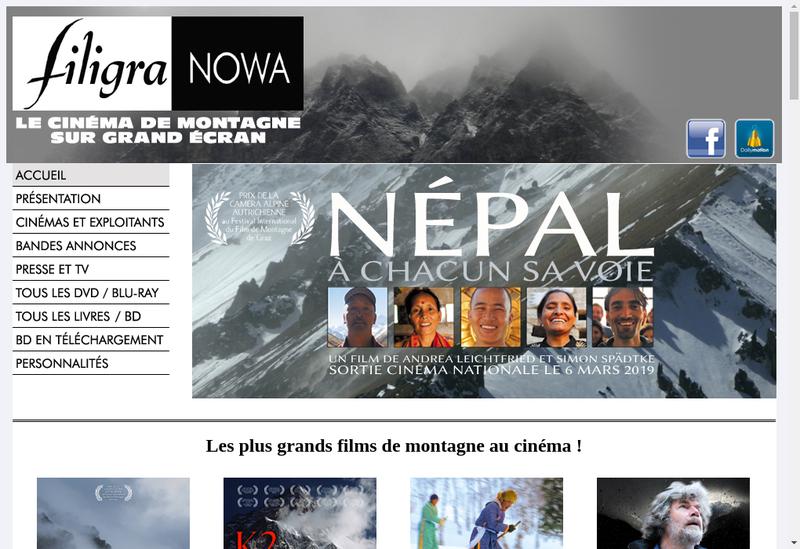 Capture d'écran du site de Filigranowa