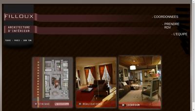 Capture d'écran du site de Filloux