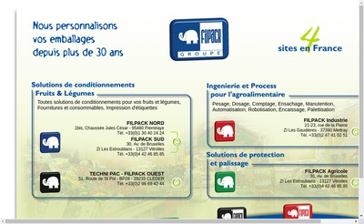 Site internet de Filpack Protection