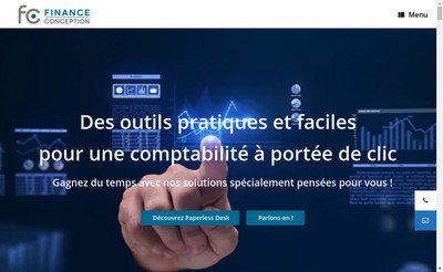 Site internet de Finance Conception