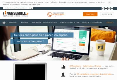 Capture d'écran du site de Grisbee Gestion Privee