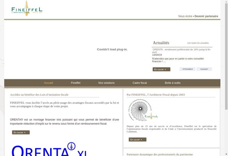 Capture d'écran du site de Fineiffel Industrie