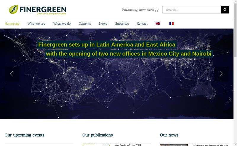 Capture d'écran du site de Finergreen