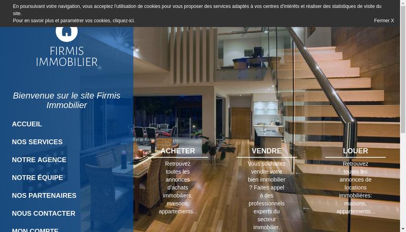 Capture d'écran du site de Firmis Immobilier