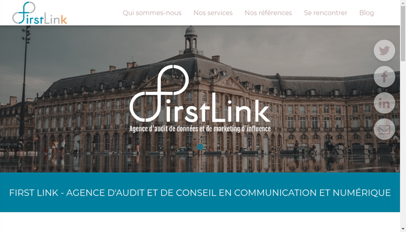 Capture d'écran du site de First Link