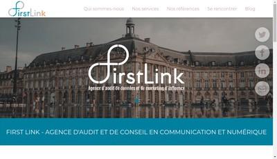 Site internet de First Link